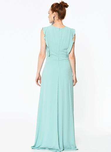 Kolsuz Uzun Elbise-Koton